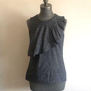 Linen Sleeveless Asymmetrical Top
